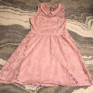Dresses & Skirts - Lace Layer Collar Rose Dress